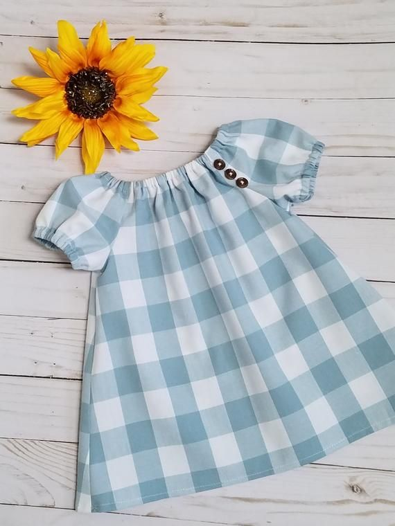 Baby Girls Buffalo Plaid Check Dress Toddler Boho Dress Girls Etsy Girls Boho Dress Toddler Girl Dresses Girls Fall Dresses