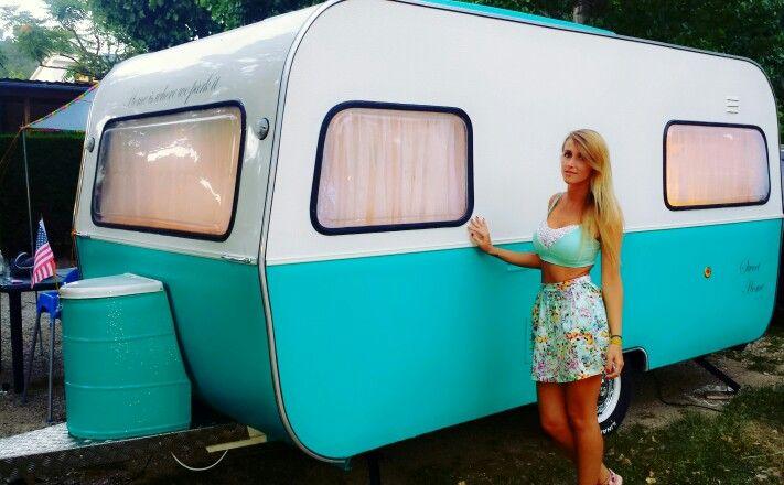 My caravan vintage caravana retro my home is where we park it