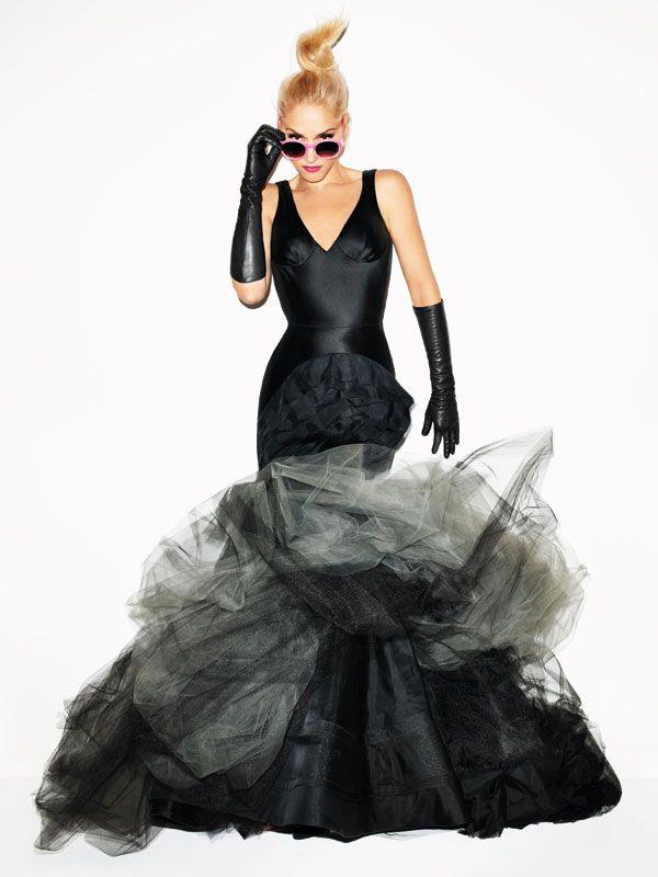 black wedding dress.: Gwenstefani, Gwen Stefani, Fashion, Style, Harpers Bazaar, Terry Richardson, Bazaars