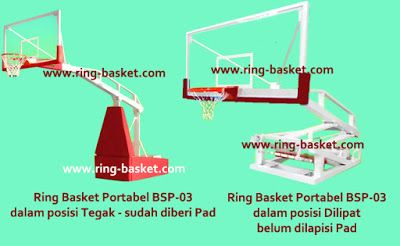 Jual Ring Basket , Tiang Basket Portabel  dan Papan Pantul Basket: Ring Basket Portabel Model BSP-03
