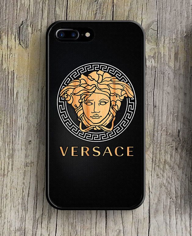 Versace Wood Logo Carbon High Quality Case For iPhone 6 6s