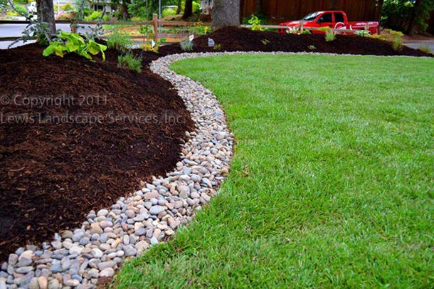 Drainage solution dream home pinterest french drain for Installing river rock landscaping