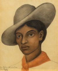 Young Boy with Sombrero, 1935 Diego Rivera