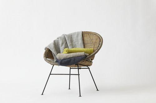 Pehr Designs linen throw - turquoise, navy, citron