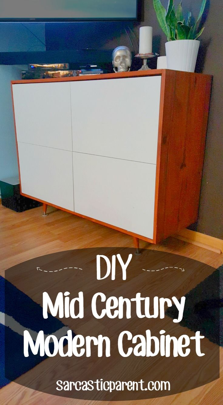 The post may contain affiliate links My recent love affair with Mid Century modern furniture is what I would call a tab unhealthy. I want every piece of furniture in my house to have angled tapered legs? Is that weird? No? Ok good… This piece that I made was something that I had been thinking …