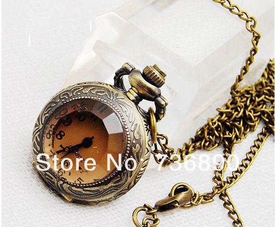 Aliexpress.com : Buy 4pcs/lot винтажном стиле Карвинг MAN MADE коричневый кристалл карманные часы ожерелье from Reliable ожерелье велосипед suppliers on Amazing Lady Jewelry(No Min Order)