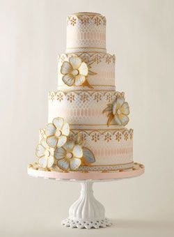 Brides: America's Most Beautiful Cakes: Ideas, Weddings, Vintage Cakes, Wedding Cakes, Beautiful Cakes, Flowers, Elegant Wedding, Weddingcak, Fondant Cakes