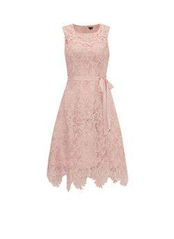 Phase Eight Rose kanten jurk met ceintuur in lichtroze