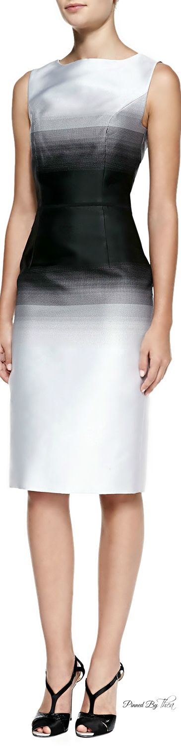 Carolina Herrera - Ombre Sheath Midi-Dress - now this is timeless styling.                                                                                                                                                      More