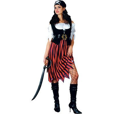 Pirate lady ship mate #caribbean #womens halloween fancy dress party #costume new,  View more on the LINK: http://www.zeppy.io/product/gb/2/132042865140/