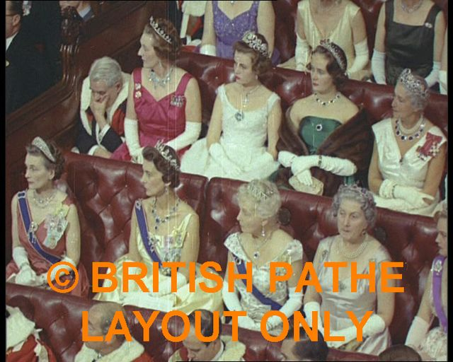 State opening of parliament. 1960s Duchesses of Gloucester,Kent,Fife etc,Princess Alice Countess of Athlone.Sybil Marchioness of Cholomondeley et al