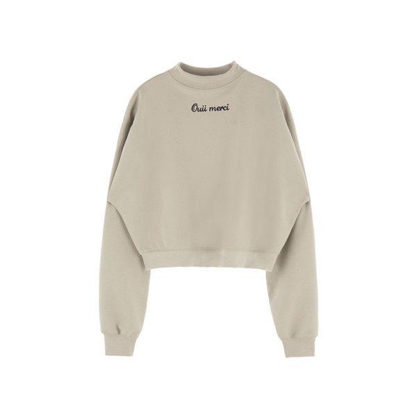 하이넥 메르시 스웨트 셔츠 ($29) ❤ liked on Polyvore featuring tops, sweaters, jumpers, shirts, shirts & tops, brown tops, brown sweater e brown shirt