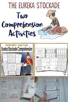 Year 5 Australian History – Gold Rush – Eureka Stockade. This fantastic resource contains two comprehension activities focusing on the Eureka Stockade. The first is a storyboard activity allowing students to sort and sequence events from the text into ord