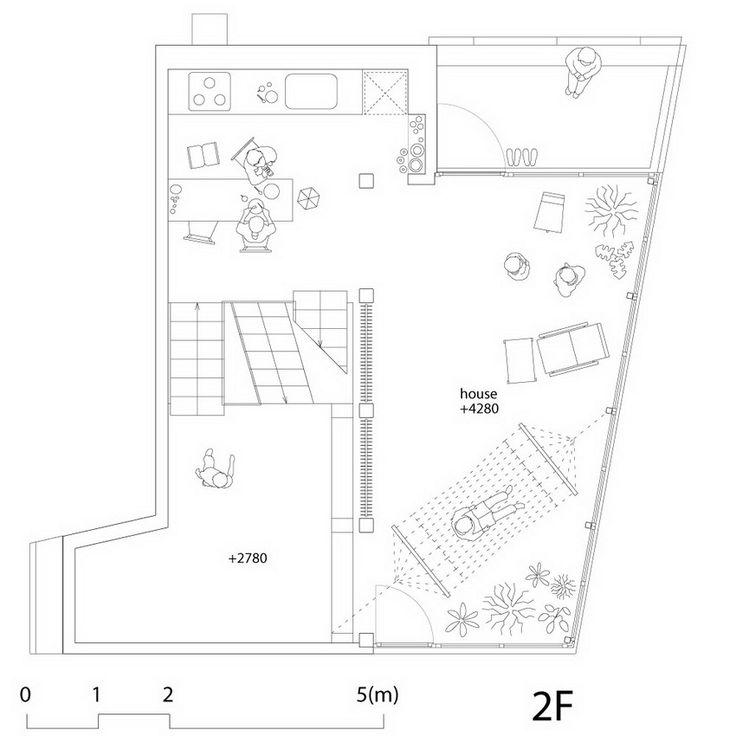 PLANS House & Atelier / Atelier Bow-Wow