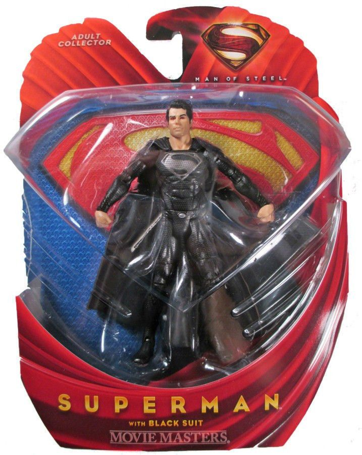 DC Comics Adult Collector Superman Man of Steel Superman w/ Black Suit Fig ~BNIB #DCComics