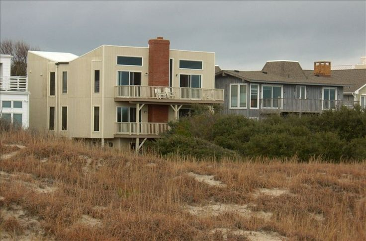 Virginia Beach house rental - The House viewed from Elevated Walkway to Beach. (Ocean behind photographer)