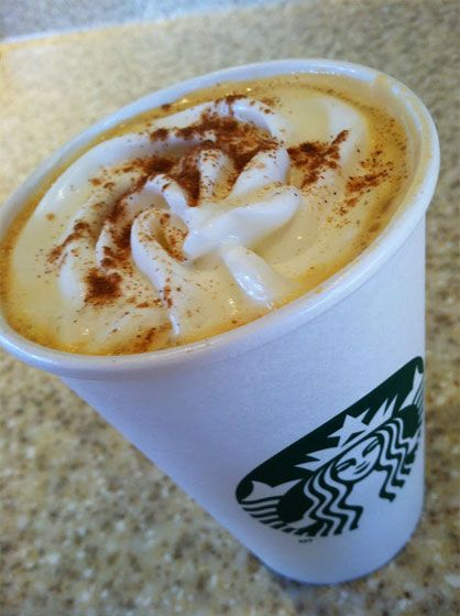 Pumpkin Chai Latte - 15 New Secret Starbucks Drinks for Fall and Winter