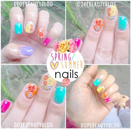 ♥ DOPE Beauty ♥: Spring/summer nails with Bornprettystore/ Manichiura de vara/primavara cu Bornprettystore (Water decals Review)
