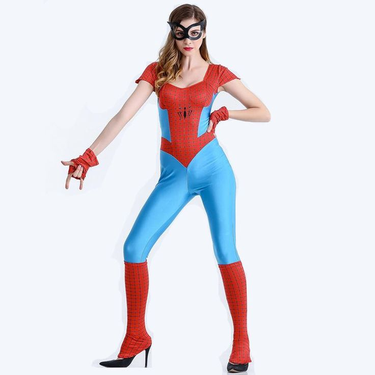 New Spiderman Women Fantasia Spiderman Costume Halloween Costumes Costume Adult Christmas Carnival Clothes Jumpsuits #Affiliate