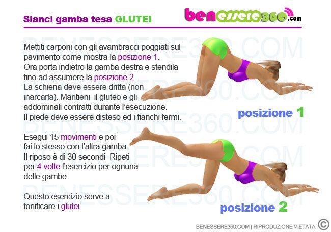 Slanci Posteriori A Gamba Tesa Sport Pinterest Workout