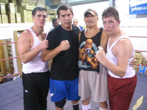 Close friends Reid Flair & Richie Steamboat training at George South's school in North Carolina