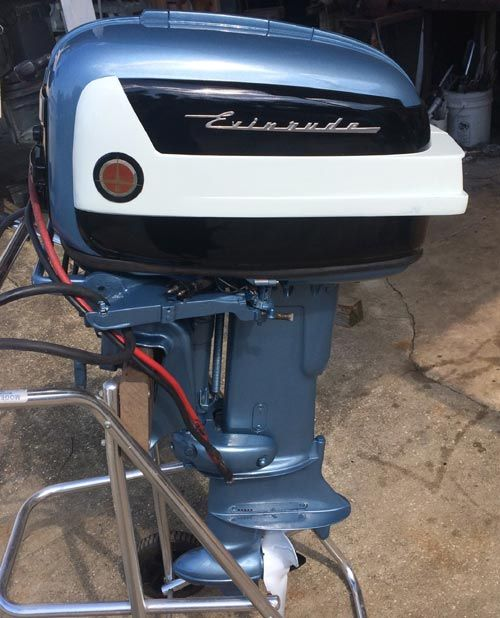 Used Small Boat Engines For Sale: 1958 35 Hp Evinrude Outboard Antique Boat Motor For Sale