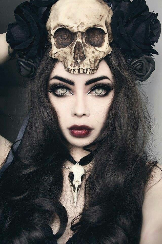 I better stop looking like the skull and start looking like my version of the female underneath. | See more about Skull, Gothic and Makeup.