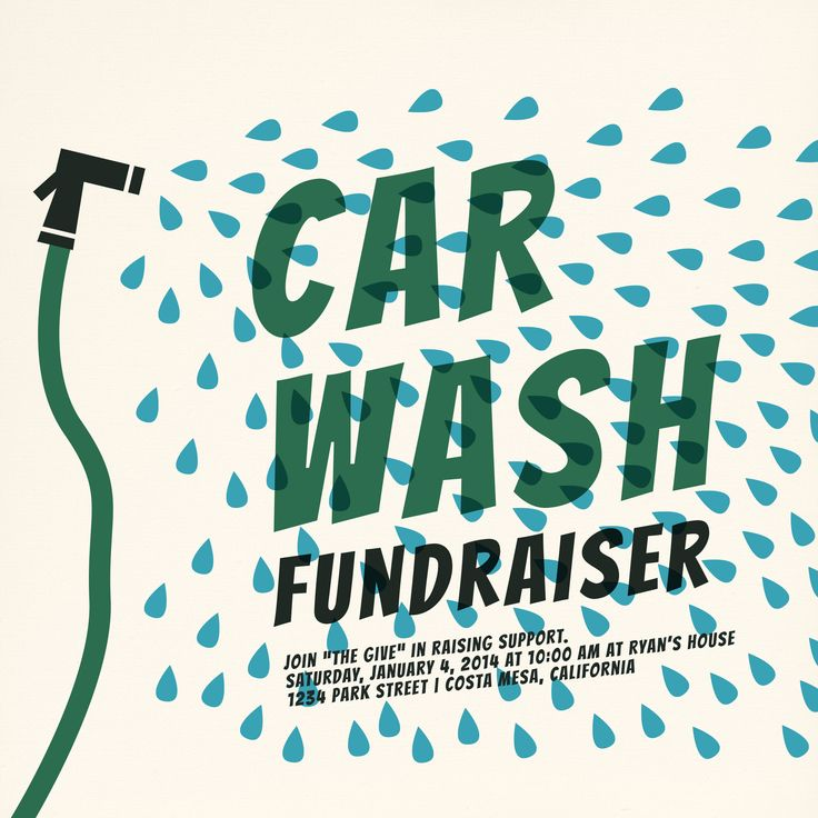 Everyone has a car-wash fundraiser at some point. We thought it would be more fun to have an invitation to make it a special event for the receiver. #carwash #eventure