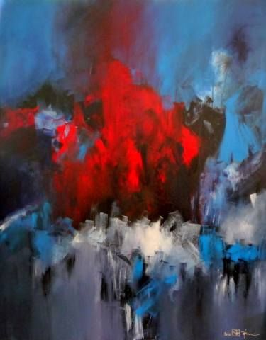 "Saatchi Art Artist Christian Bahr; Painting, ""WHAT YOU CALL LOVE IS A DARK PLACE"" #art"