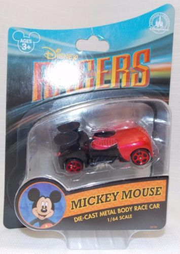 Disney-Parks-Racers-Die-Cast-Metal-Body-Race-Car-New-Mickey-Mouse