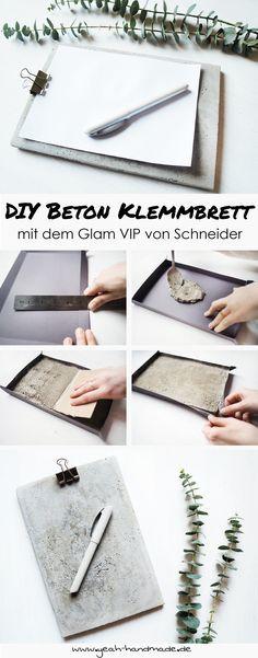 [Anzeige] DIY Klemmbrett aus Beton mit dem Glam VIP von Schneider – Alexandra Gnaß