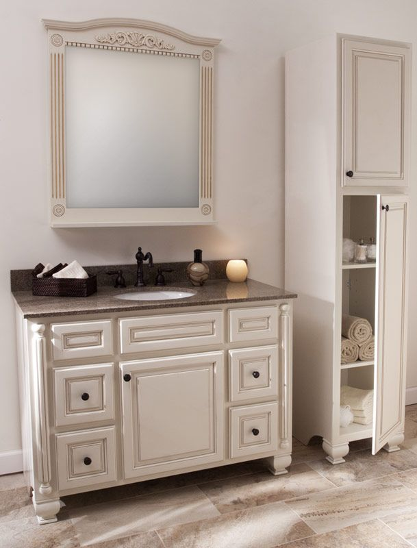 White Bathroom Cabinets With Dark Countertops Part 96
