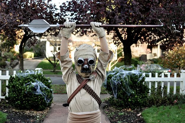 Awesome homemade Star Wars tusken raider costume for one lucky kid.