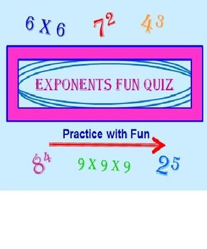 EXPONENTS POWERPOINT FUN QUIZ (REVISED) Exponents and MORE exponents! This program is challenging, fun and STILL EDUCATIONAL! * Imagine a program that STARTS ALL OVER AGAIN if they get even ONE answer wrong? THIS ONE DOES! Imagine a program that is SELF-CORRECTING! THIS ONE IS! 47 slides in all. Students will enjoy TRYING to make it to the end without having to start all over again!