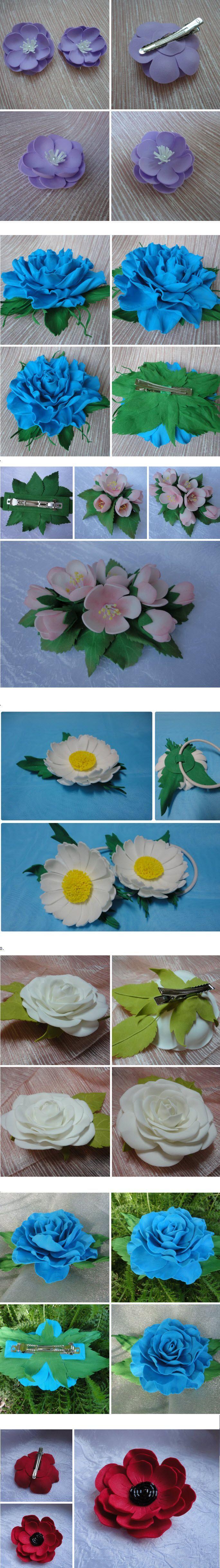 цветы из фоамирана - мастер классы с фото и видео