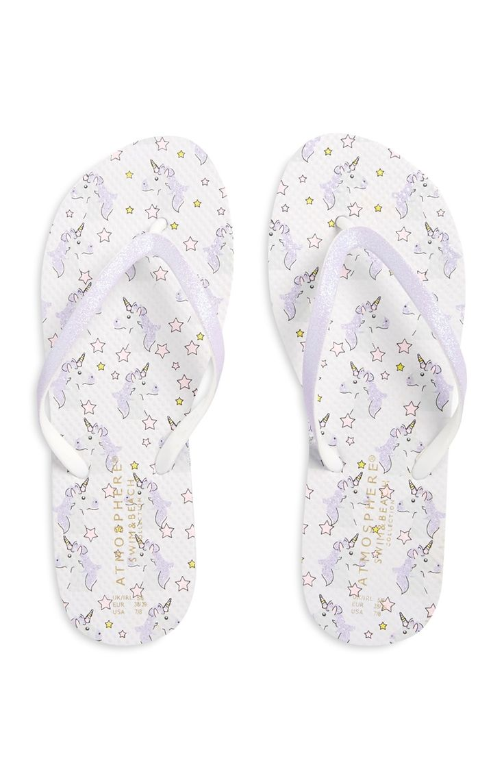 Primark - Purple Unicorn Flip Flops