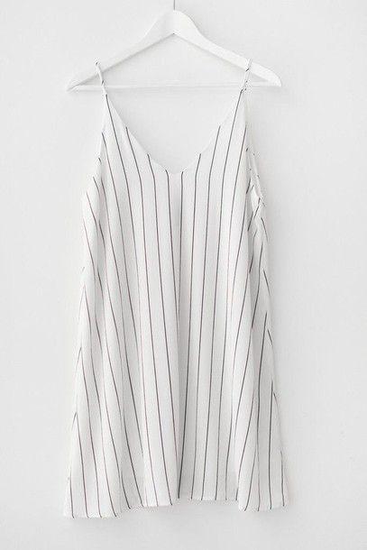 Wheretoget - White striped slip dress