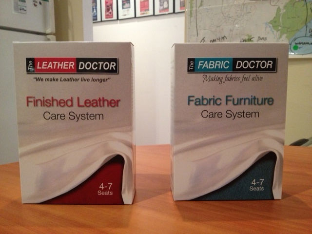 Leather Doctor and Fabric Doctor cleaning products. Nothing cleans leather or fabric better.