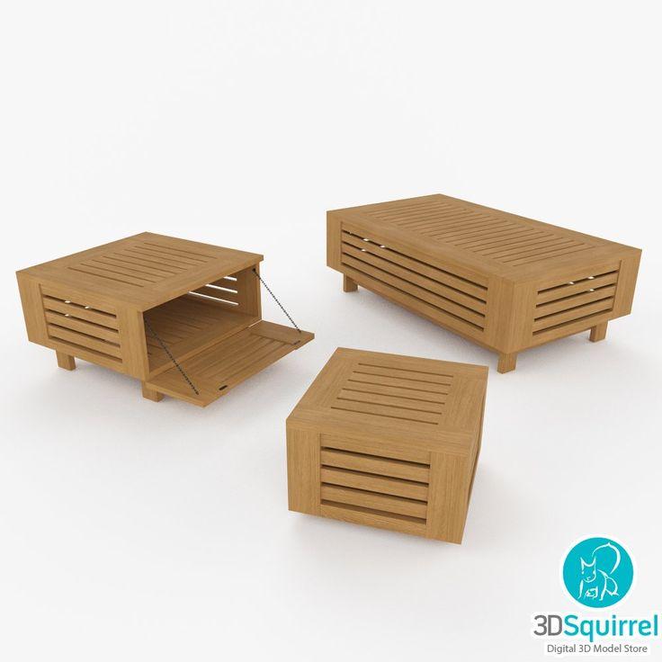 outdoor coffee tables 3d model obj fbx 3ds dwg max 3dsquirrel - Garden Furniture 3d
