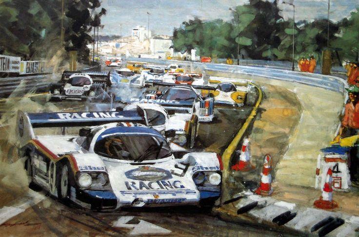 Stefan Bellof - Porsche 956. Kunstdruck