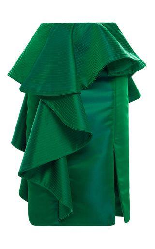Esmeralda Peplum Skirt by JOHANNA ORTIZ for Preorder on Moda Operandi