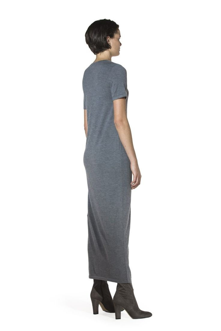 The super-fine cashmere maxi dress exudes simplicity offering so many options for ultra-chic styling. Pair it with boots for a rebellious kick, layer it with a vest or cardigan for a bon-ton look, or simply accessorize it with a mink hood for a luxurious touch. Versatility is the word.