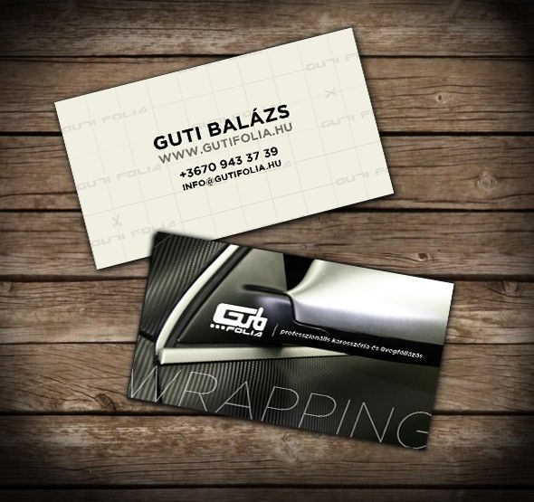 Auto wrapping name card by s23.hu