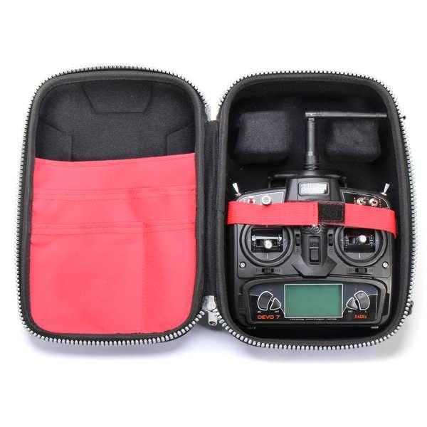 Waterproof Suitcase For Frsky Walkera RadioLink FlySky JR Transmitter          Description: Brand Name: START Item Name: Transmitter suitcase Dimension: 33 x 23 x 13 cm Color: Black Usage: Suitable for Frsky,Walkera,RadioLink, JR 28X,XG11MV,FlySky...