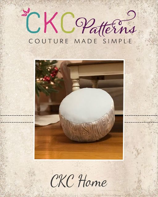 Create Kids Couture: 9th Day of Christmas: Log Slice Floor Cushion