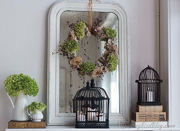 Fall Mantel Decoration {bringing out the romantic in me} - Songbird
