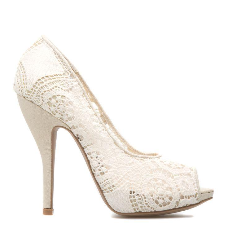 Best 25+ White Lace Heels Ideas On Pinterest