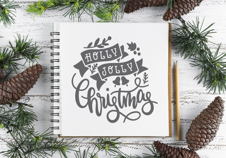 Free Holly Jolly Christmas SVG, PNG, EPS & DXF Free