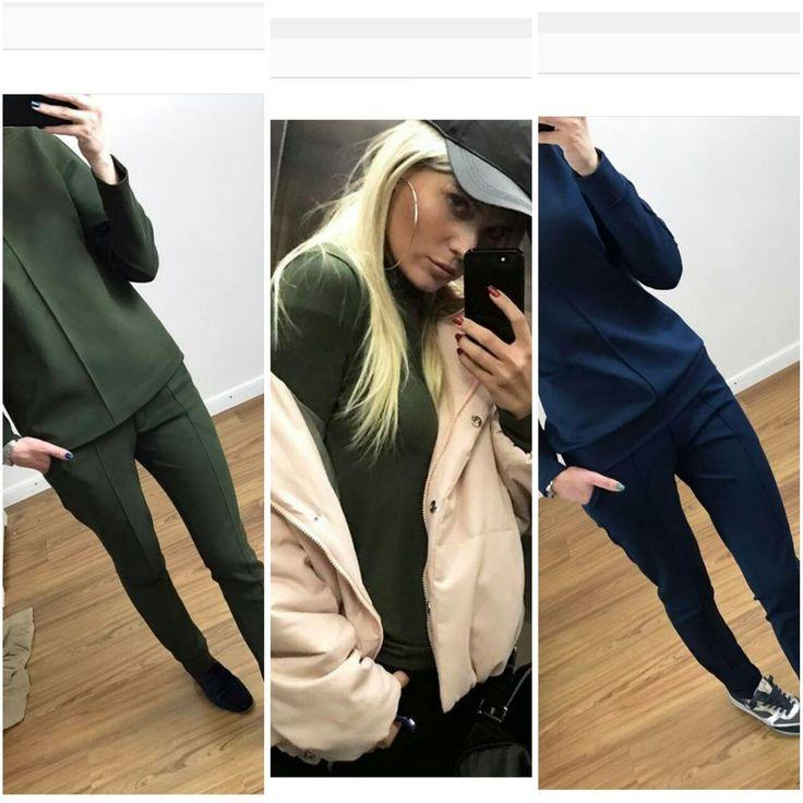 ОПРОС! ВАЖНО ВАШЕ МНЕНИЕ! Как вам костюмчики из качественного трикотажа джерси Цвета могут быть разными. Размеры от 40 до 46 размера, шьется под ваш рост от 155 до 180 см #высокие #назаказ #хакицвета #зеленыецвета #синиецвета #кепка #курткарозовая #люблювсерозовое #селфи #класс #крутыевещи #свободнымбыть #счастье