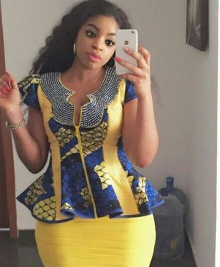 Ankara Top Styles Yellow Combinations http://www.dezangozone.com/2016/06/ankara-top-styles-yellow-combinations.html